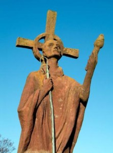 Statue of Aidan at Lindisfarne