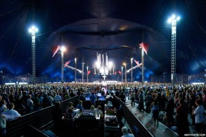 Young people at the Christian festival Soul Survivor